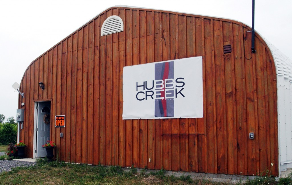Hubbs Creek Winery on Danforth Road in Prince Edward County
