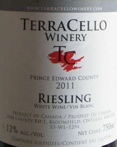 TerraCello Riesling 2011