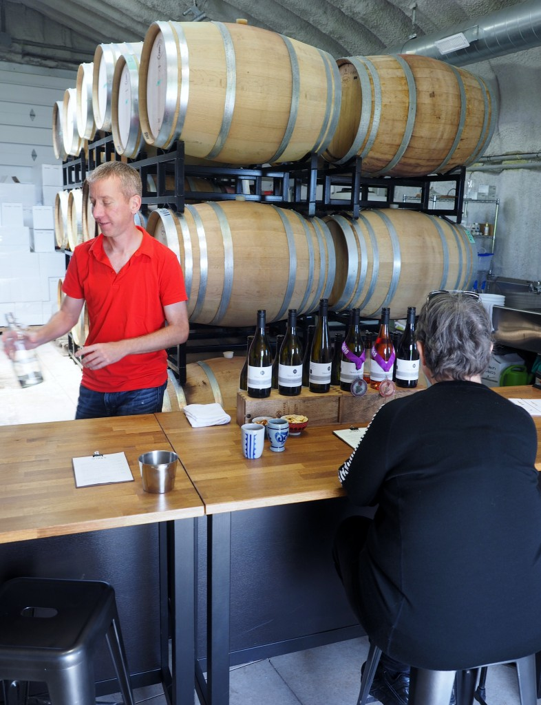 All the wines on display employ fruit sourced from Niagara, but the first estate wine (Baco Noir) is due to be released this year.