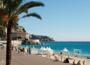 The Promenade des Anglais by the Nice seaside