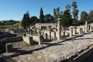 Part of the Roman town in Vaison-la-Romaine